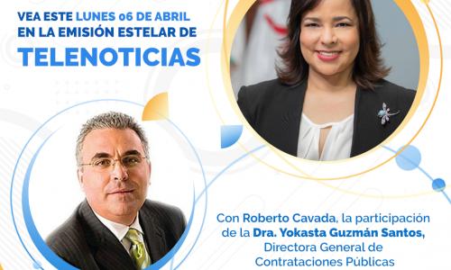 Entrevista a Yokasta Guzmán Santos, Directora General de Contrataciones Públicas en Telenoticias