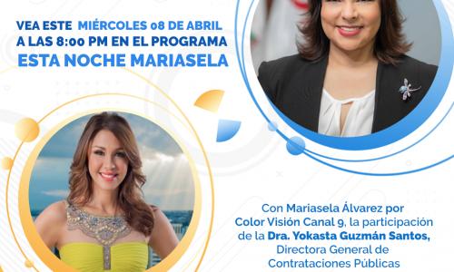 Derecho a réplica, Yokasta Guzmán directora de Contrataciones Públicas – En Mariasela