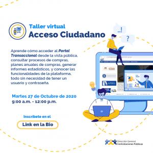 """""""Acceso Ciudadano"""" @ Direccion General de Contrataciones Publicas"""