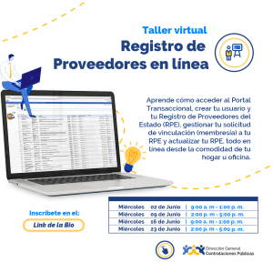 Registro de Proveedores en línea @ Direccion General de Contrataciones Publicas