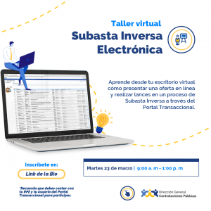 """""""Subasta Inversa Electrónica para Proveedores"""" @ Direccion General de Contrataciones Publicas"""