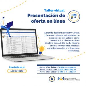 """Presentación de Ofertas en línea"" @ Virtual"