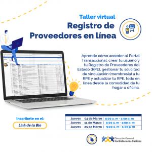 """""""Registro de Proveedores en línea"""" @ Direccion General de Contrataciones Publicas"""