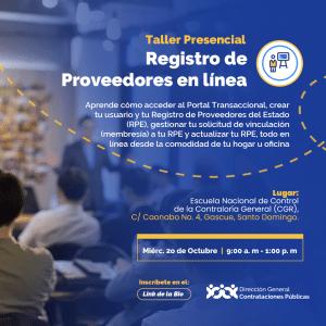 """""""Registro de Proveedores en línea"""" @ @PRESENCIAL Escuela Nacional de Control de la Contraloría General (CGR)"""