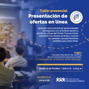 """""""Presentación de Ofertas en línea"""" @ @PRESENCIAL Escuela Nacional de Control de la Contraloría General (CGR)"""